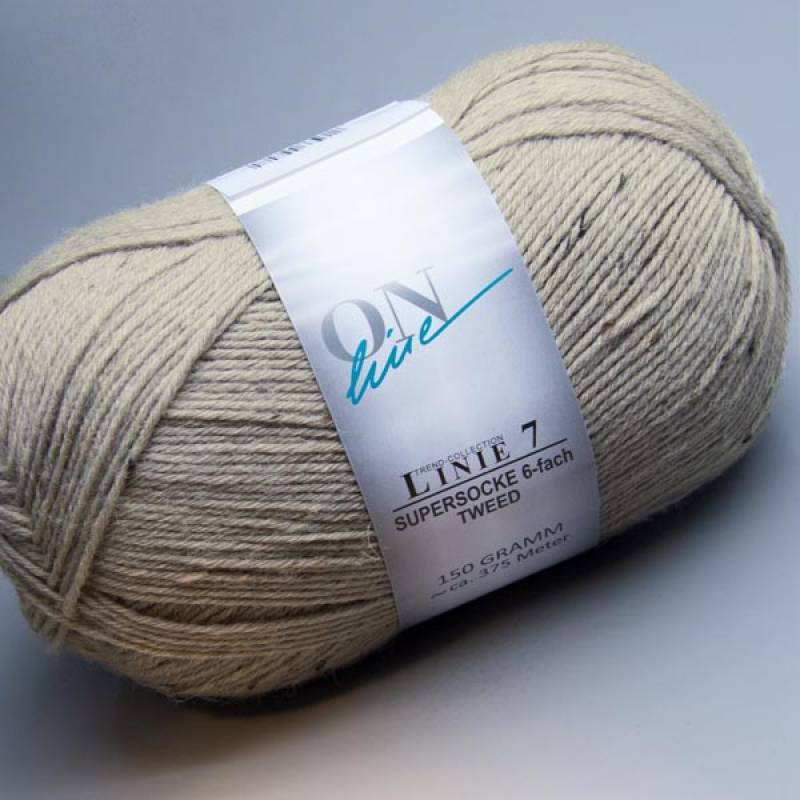ONline Linie 7 Supersocke 6-fach Tweed 0902 150g