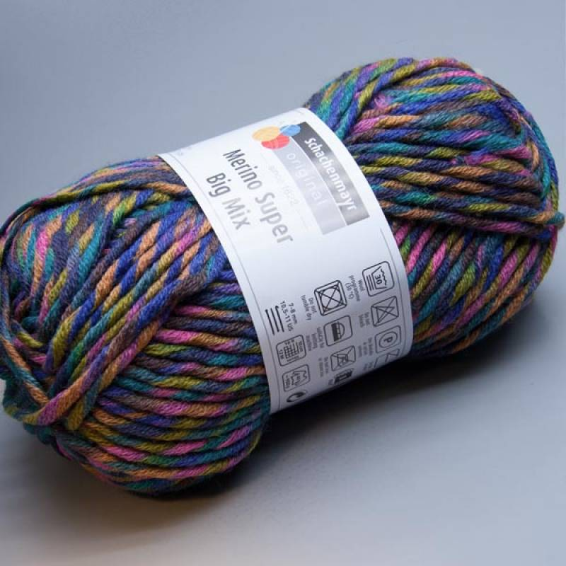 Schachenmayr Merino Super Big Mix 189 fantasy color 100g
