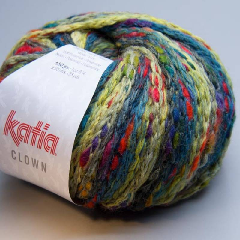 Katia Clown 200 blau-grün 50g