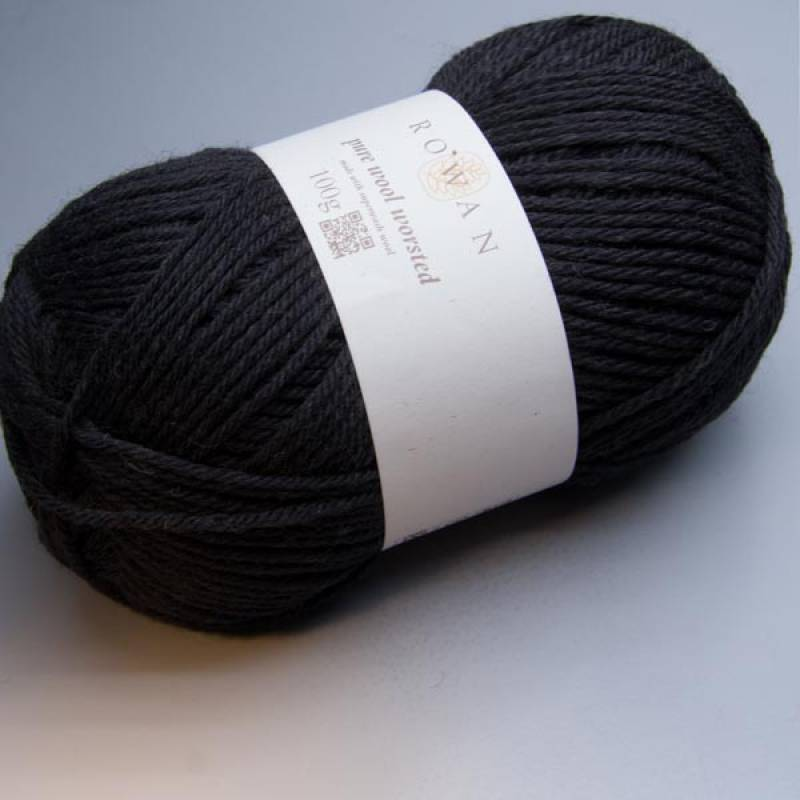 Rowan Pure Wool Worsted 109 black 100g