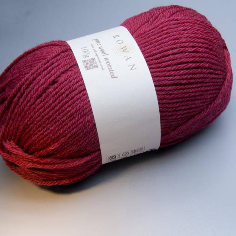 Rowan Pure Wool Worsted 123 crimson 100g
