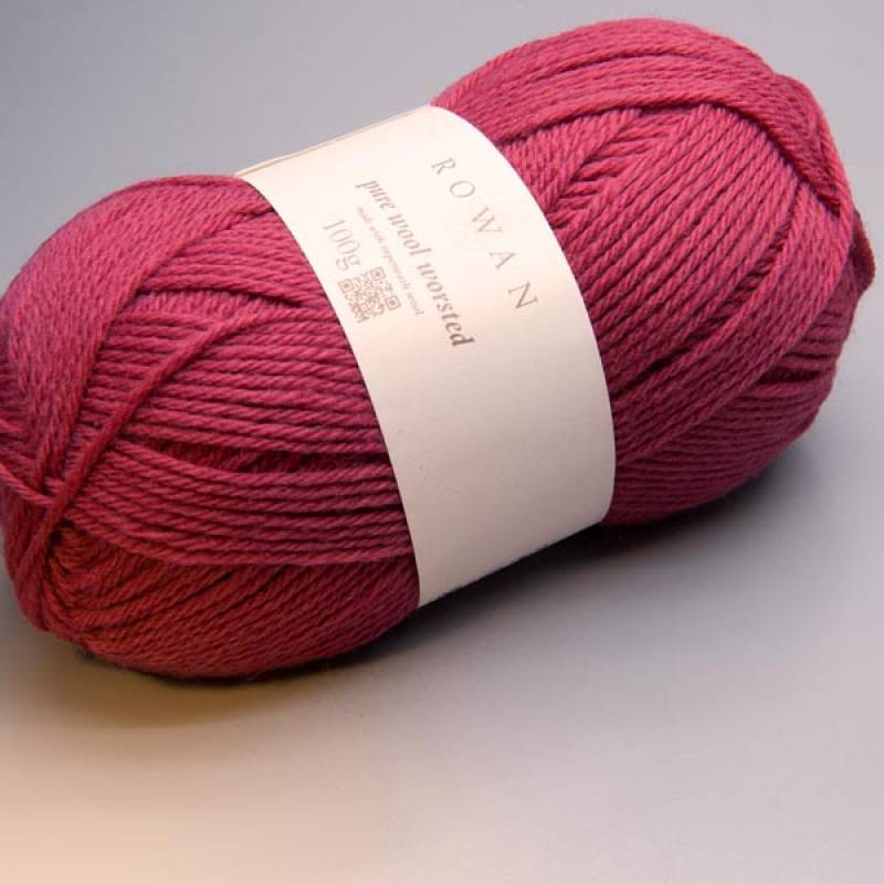 Rowan Pure Wool Worsted 117 raspberry 100g