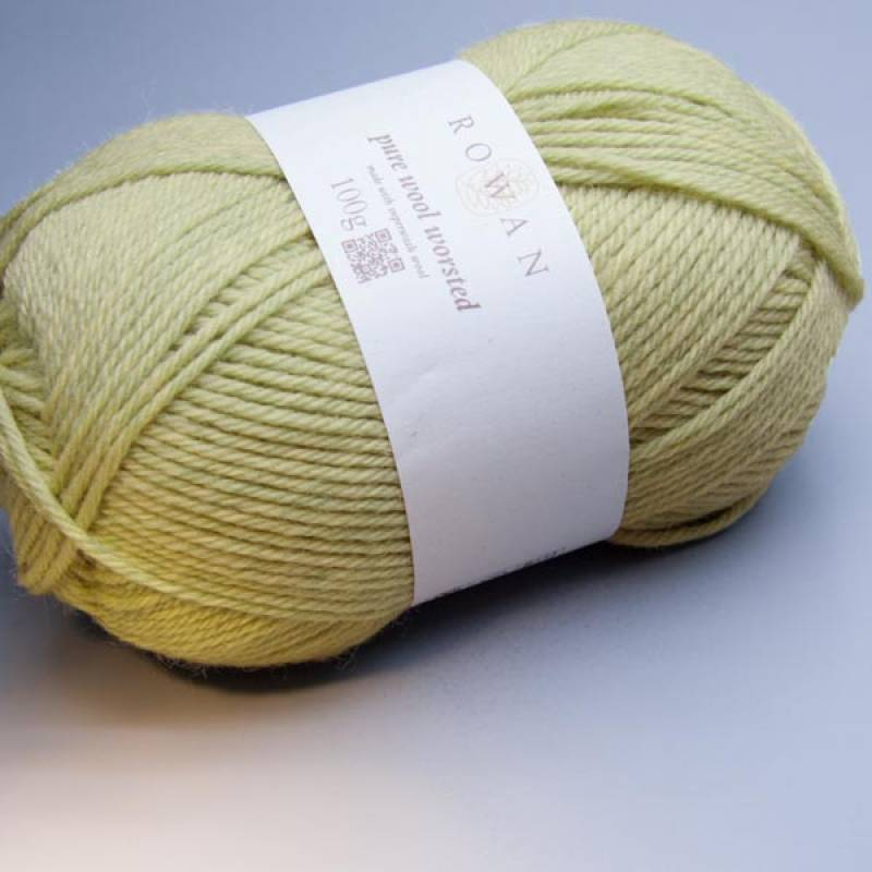 Rowan Pure Wool Worsted 130 grasshopper 100g