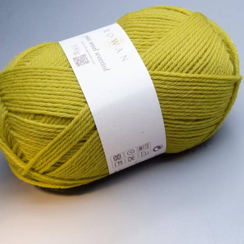 Rowan Pure Wool Worsted 131 mustard 100g