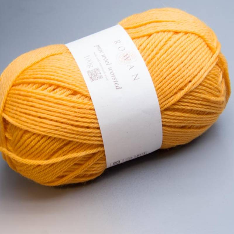 Rowan Pure Wool Worsted 132 buttercup 100g