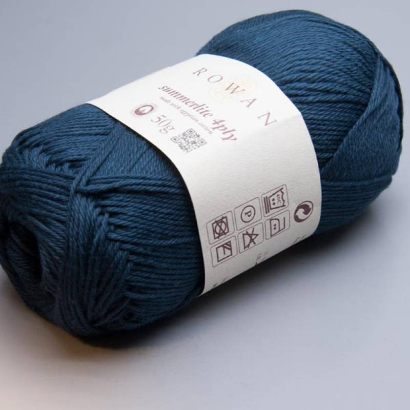 Rowan Summerlite 4ply 429 navy ink 50g