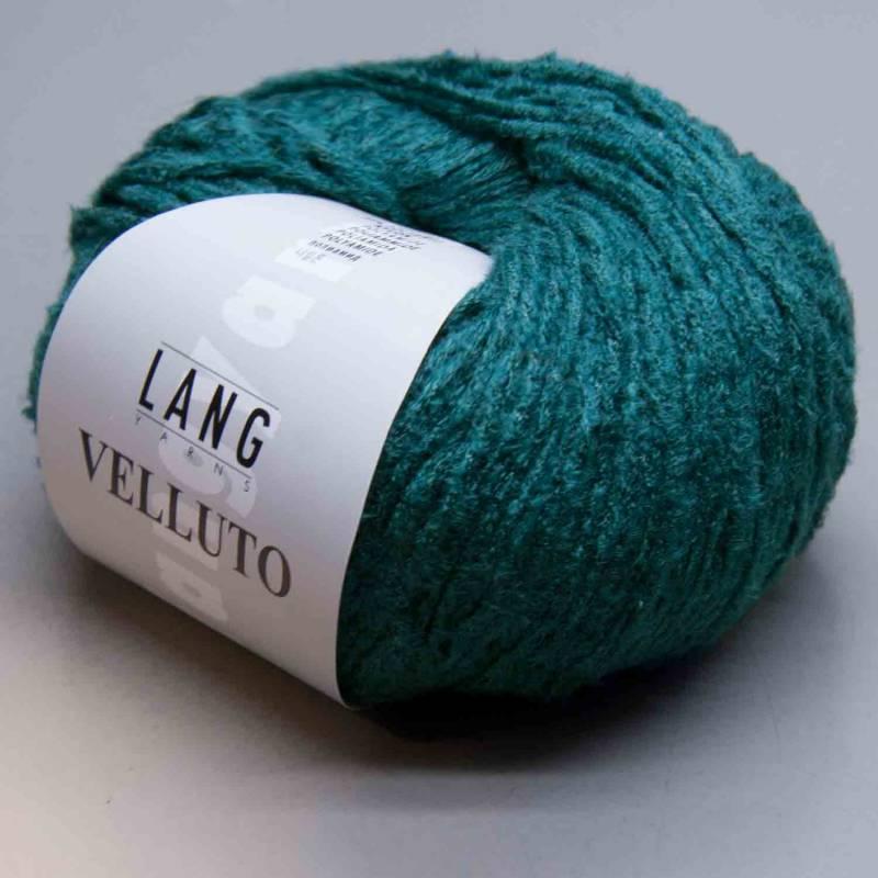 15,90€//100g VELLUTO 50g Lang Yarns Phantasiegarn in Veloursoptik alle Farben