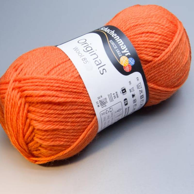 Schachenmayr Originals Wool 85 / 225 orange 50g
