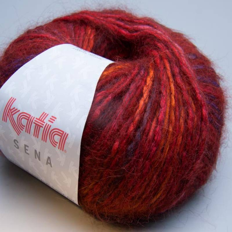 Katia Sena 121 red earth print 50g