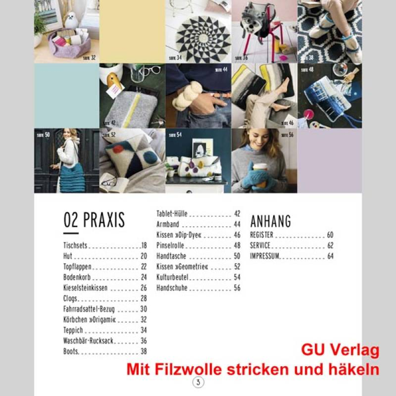 Mit Filzwolle Stricken Und Häkeln Gu Verlag