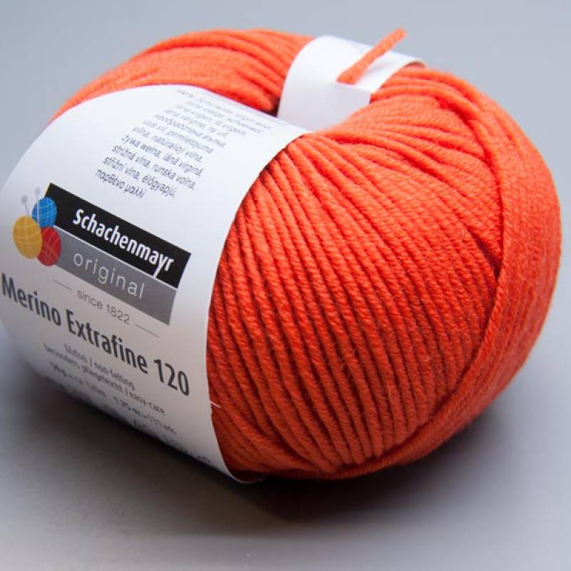 Schachenmayr Merino Extrafine 120 - 125 orange 50g