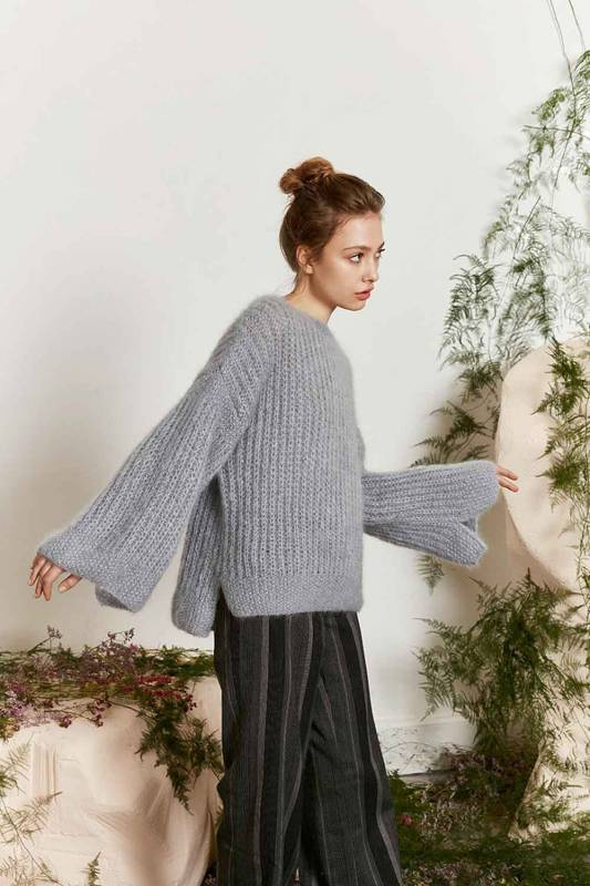 Pullover - Lang Yarns Mohair Luxe und Mohair Luxe Lame - Strickset mit Anleitung in garnwelt-Box L-XL